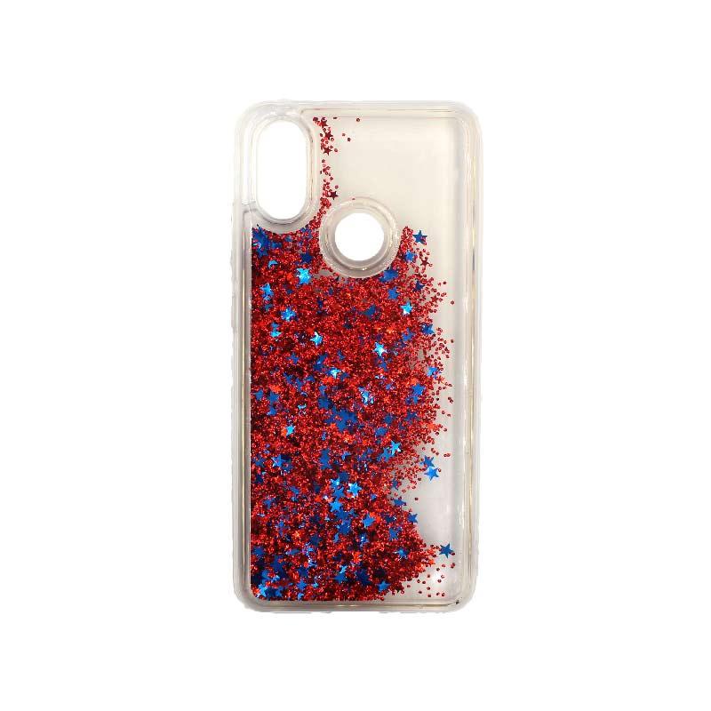 Θήκη Xiaomi Redmi S2 Liquid Glitter κόκκινο 2
