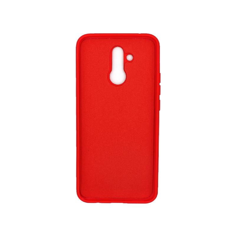 Θήκη Huawei Mate 20 Lite Silky and Soft Touch Silicone (Double Hole) κόκκινο 2