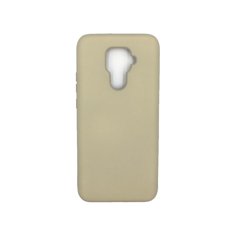 Θήκη Huawei Mate 30 Lite Silky and Soft Touch Silicone γκρι 1