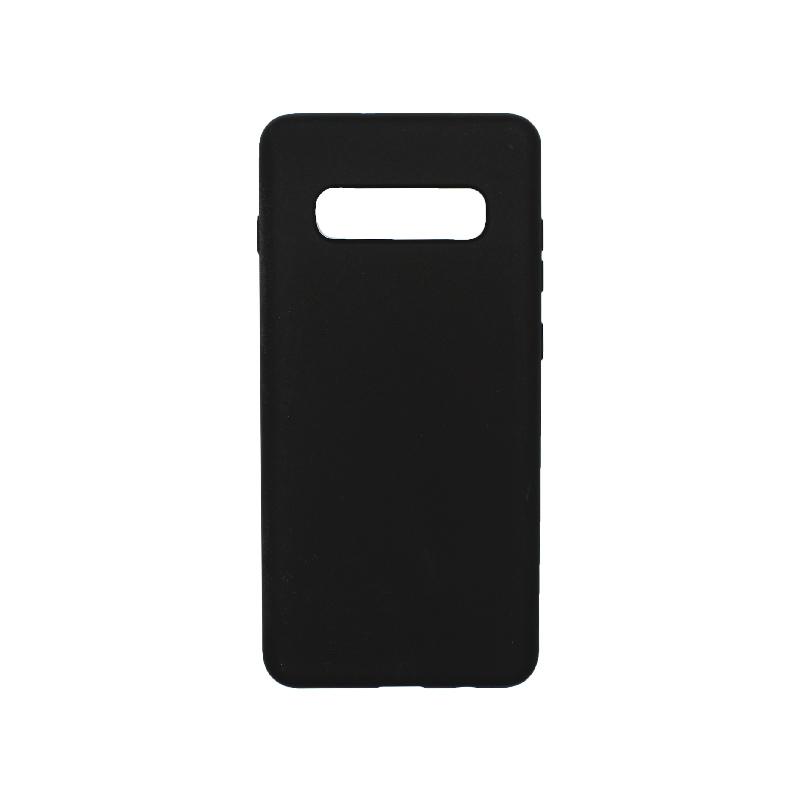 Θήκη Samsung Galaxy S10 Plus Silky and Soft Touch Silicone μαύρο 1
