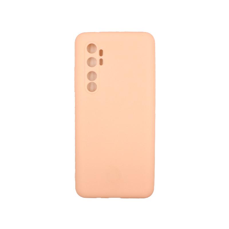 Θήκη Xiaomi Mi Note 10 Lite Σιλικόνη μπεζ
