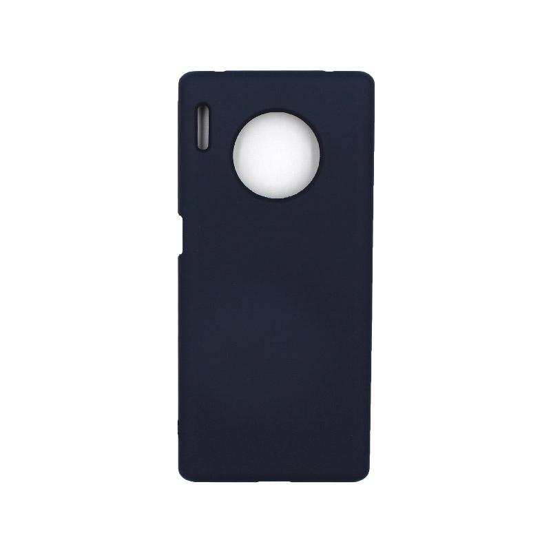 Θήκη Huawei Mate 30 Pro Silky and Soft Touch Silicone μπλε 1