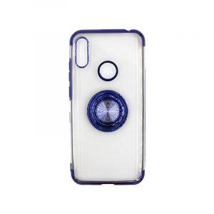 Θήκη Huawei Y6 2019 Διάφανη Σιλικόνη με Popsocket μπλε 1