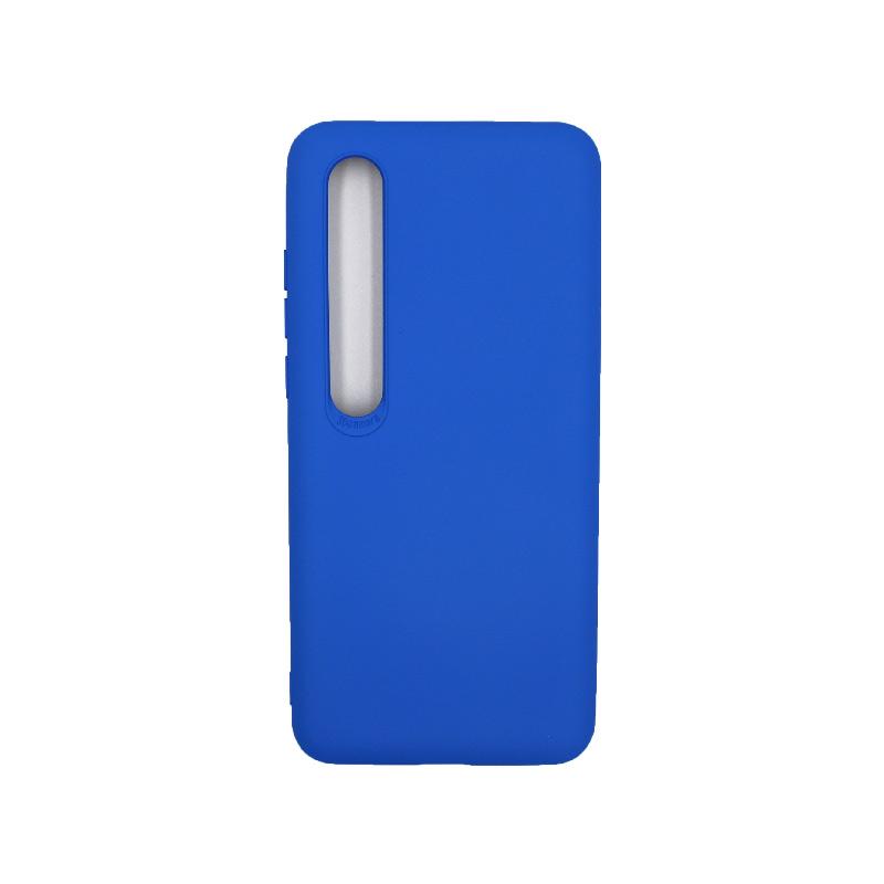 Θήκη Xiaomi Mi 10 / Mi 10 Pro Silky and Soft Touch Silicone μπλε 1