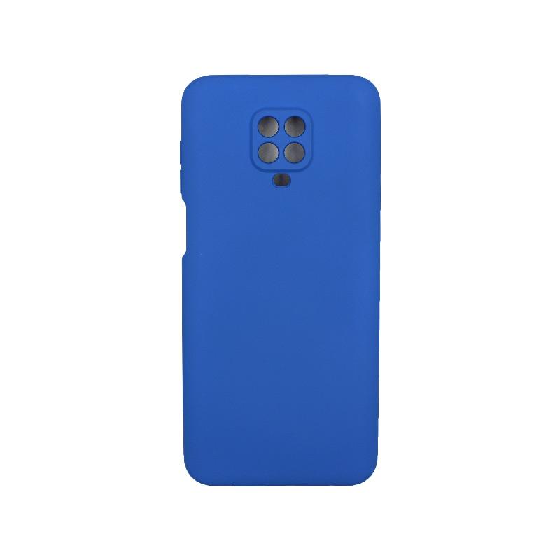 Θήκη Xiaomi Redmi Note 9S / Note 9 Pro / Max Silky and Soft Touch Silicone μπλε 1