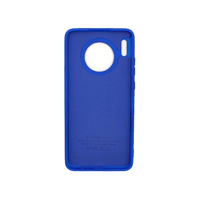 Θήκη Huawei Mate 30 Silky and Soft Touch Silicone μπλε 2