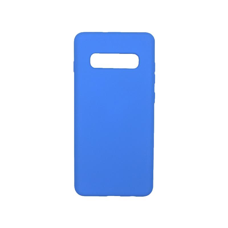 Θήκη Samsung Galaxy S10 Plus Silky and Soft Touch Silicone ανοιχτό μπλε 1
