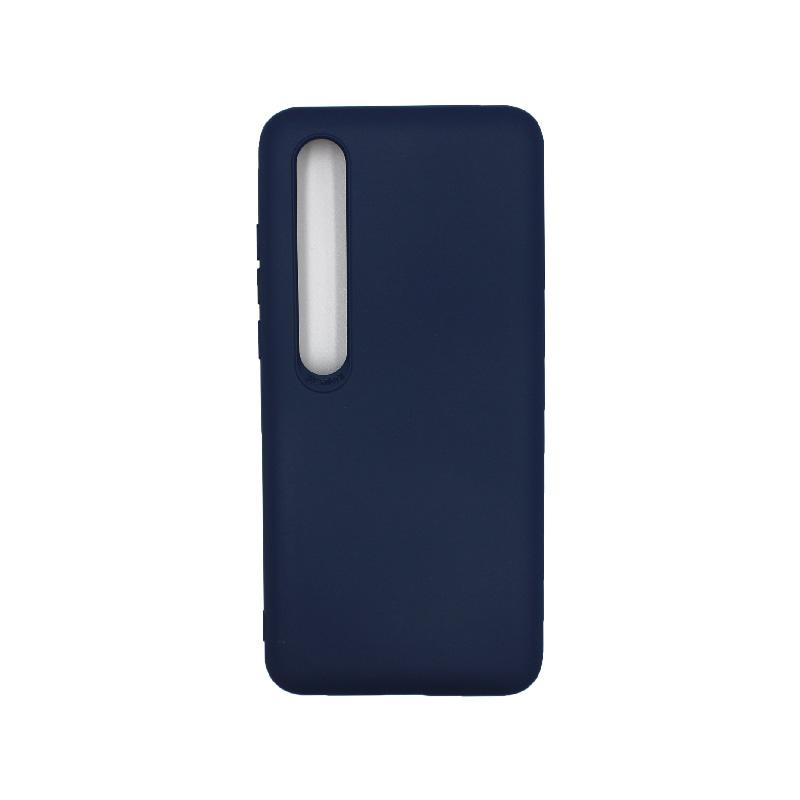 Θήκη Xiaomi Mi 10 / Mi 10 Pro Silky and Soft Touch Silicone σκούρο μπλε 1