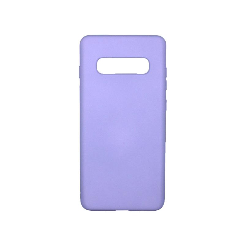 Θήκη Samsung Galaxy S10 Plus Silky and Soft Touch Silicone μωβ 1