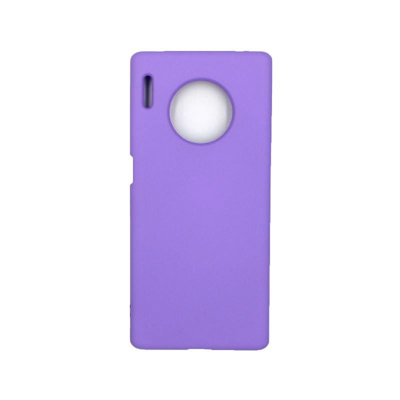 Θήκη Huawei Mate 30 Pro Silky and Soft Touch Silicone μωβ 1