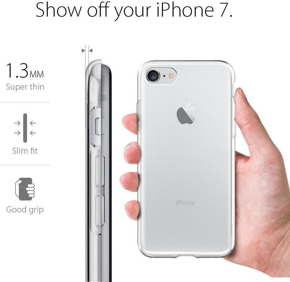 θήκη Iphone 7 / 8 / SE 2020 Σιλικόνης Διάφανο Διαφημιστικό 2