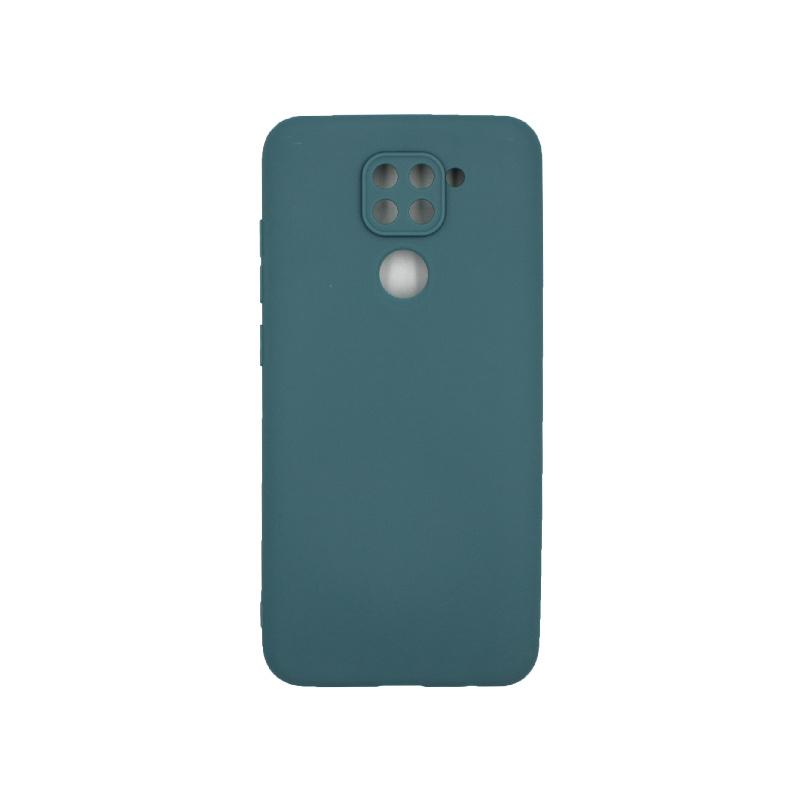 Θήκη Xiaomi Redmi Note 9 Σιλικόνη πετρόλ