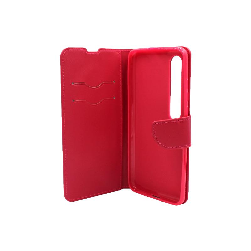 Θήκη Xiaomi Mi 10 / Mi 10 Pro πορτοφόλι σκούρο κόκκινο 3