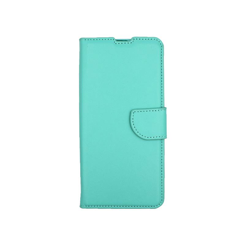 Θήκη Xiaomi Mi 10 / Mi 10 Pro πορτοφόλι τιρκουάζ 1