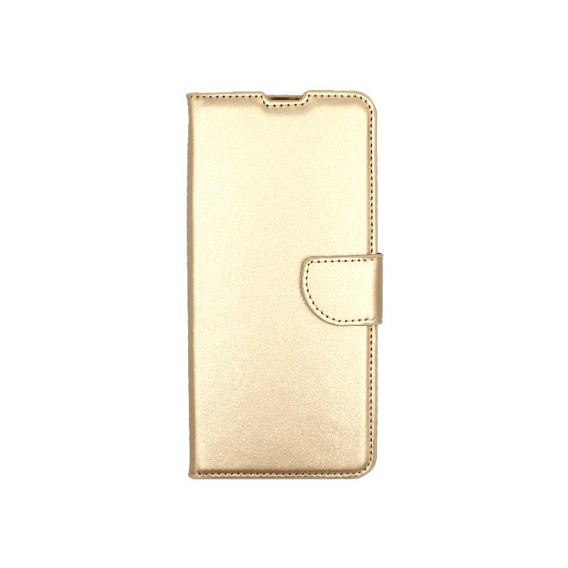 Θήκη Xiaomi Mi 10 / Mi 10 Pro πορτοφόλι χρυσό 1