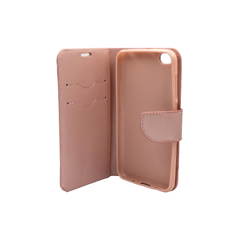 Θήκη Xiaomi Redmi Go πορτοφόλι ροζ 3
