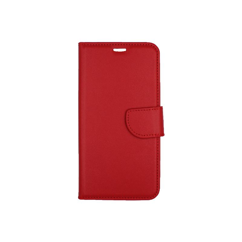 θήκη iphone Xs Max πορτοφόλι με κράτημα κόκκινο 1