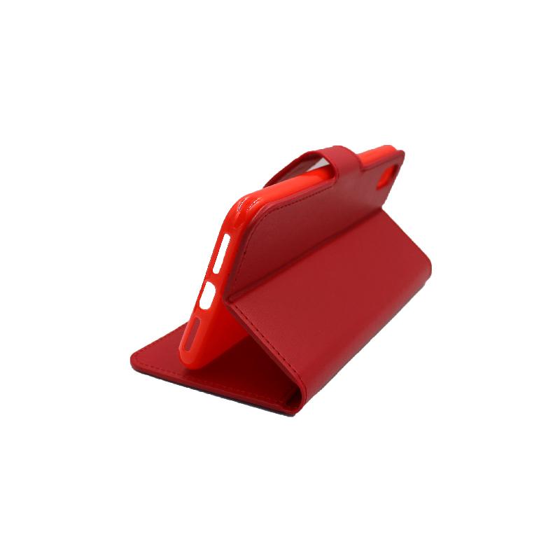 θήκη iphone Xs Max πορτοφόλι με κράτημα κόκκινο 4