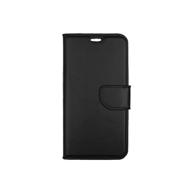 θήκη iphone Xs Max πορτοφόλι με κράτημα μαύρο1