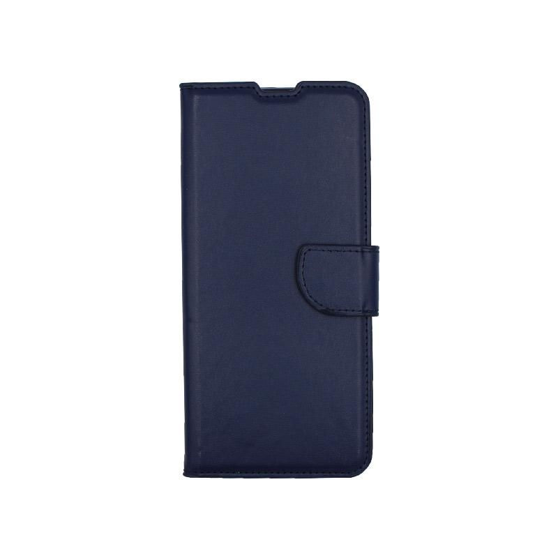 Θήκη Xiaomi Redmi Note 9S / Note 9 Pro / Max πορτοφόλι σκούρο μπλε 1