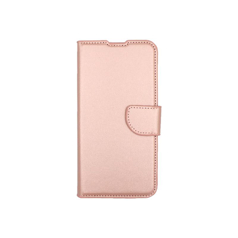 Θήκη Xiaomi Redmi 7 πορτοφόλΘήκη Xiaomi Redmi 7 πορτοφόλι απαλό ροζ 1