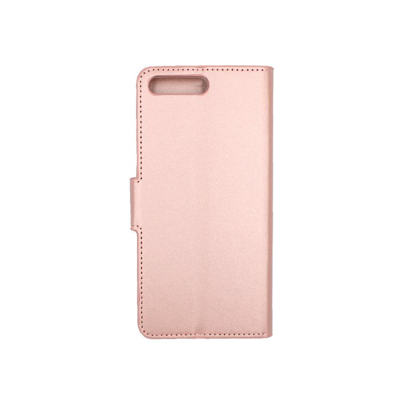 Θήκη Huawei Y6 2018 πορτοφόλι απαλό ροζ 2
