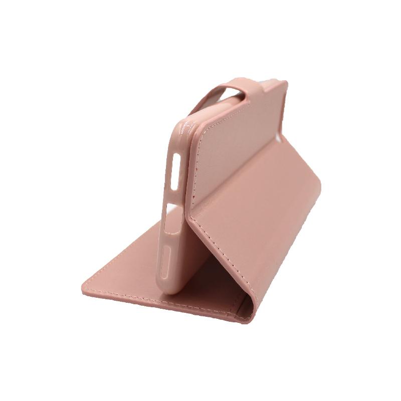 Θήκη Huawei Y6 2018 πορτοφόλι απαλό ροζ 4