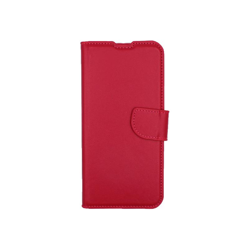 Θήκη Xiaomi Redmi Note 8 Pro πορτοφόλι σκούρο κόκκινο 1