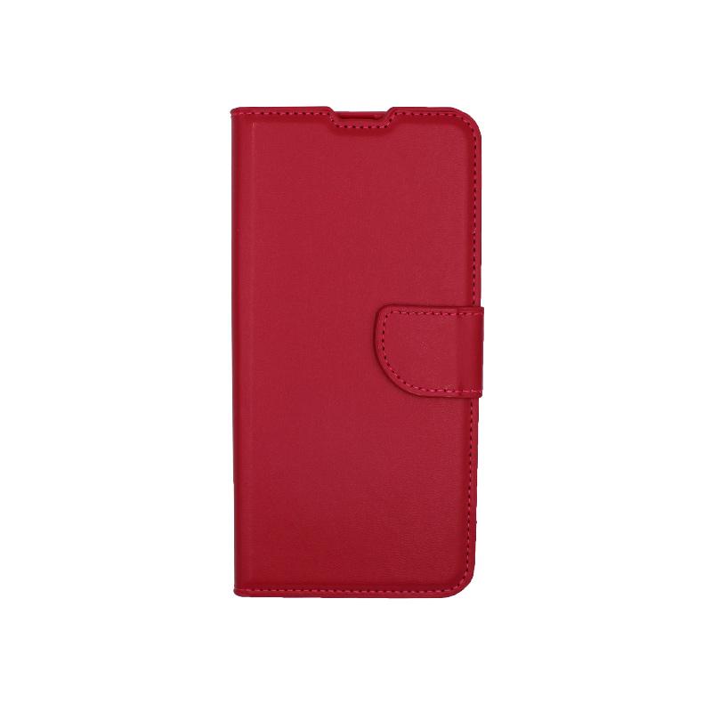 Θήκη Huawei P40 Lite E πορτοφόλι κόκκινο 1