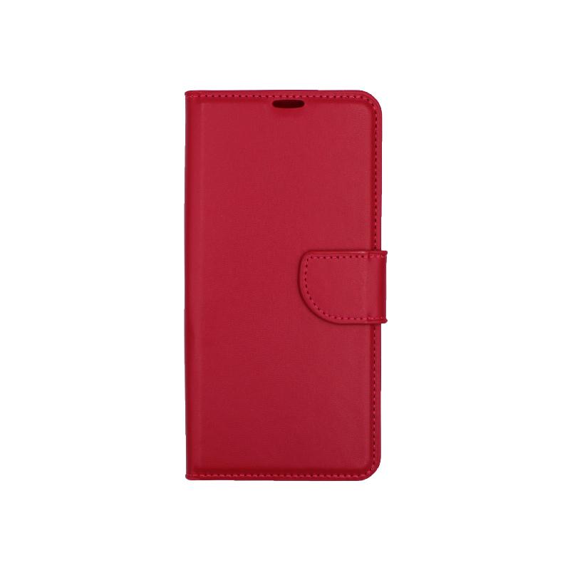 Θήκη Huawei P30 Pro πορτοφόλι σκούρο κόκκινο 1
