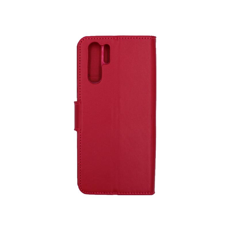 Θήκη Huawei P30 Pro πορτοφόλι σκούρο κόκκινο 2
