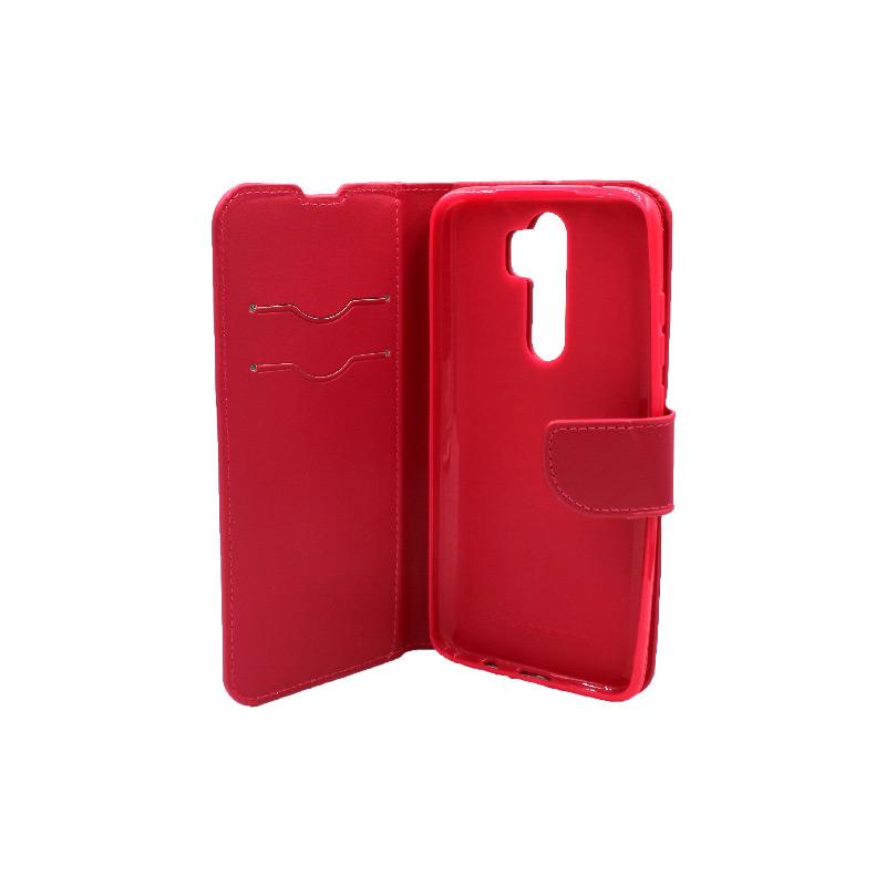 Θήκη Xiaomi Redmi Note 8 Pro πορτοφόλι σκούρο κόκκινο 3