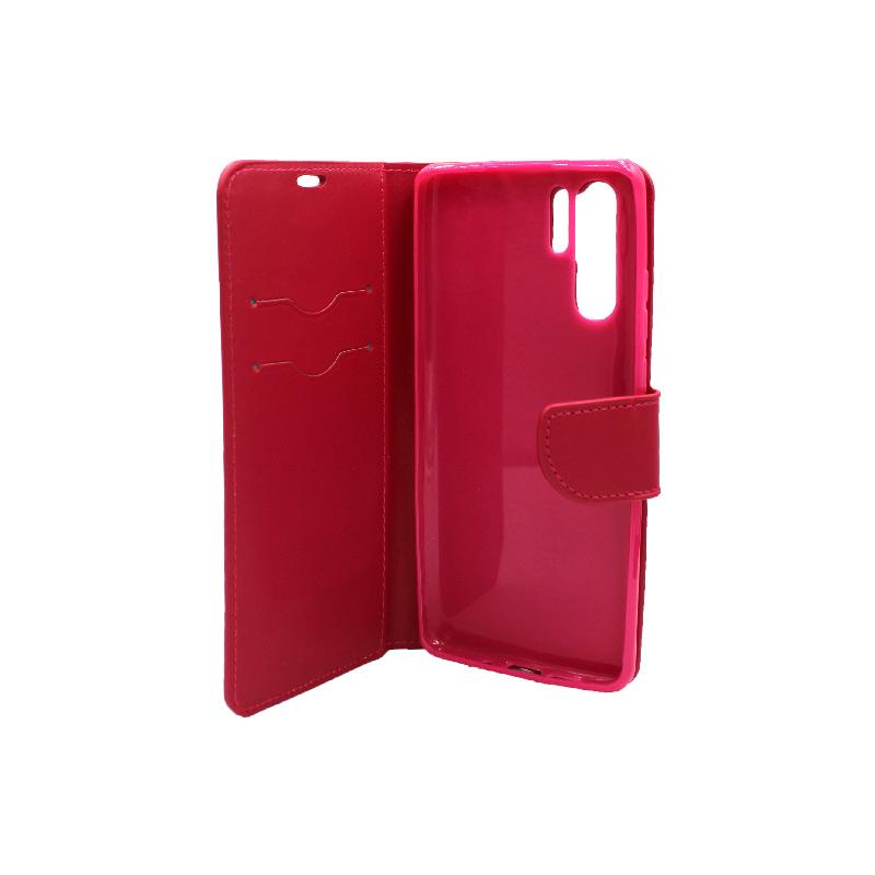 Θήκη Huawei P30 Pro πορτοφόλι σκούρο κόκκινο 3