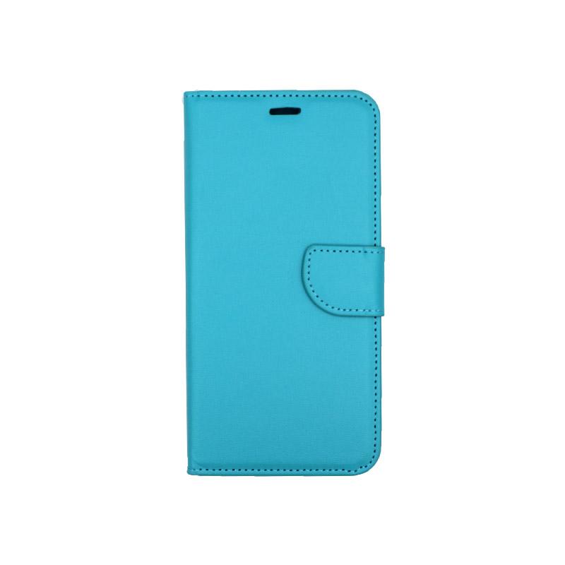 Θήκη Huawei Y9 2019 πορτοφόλι γαλάζιο 1