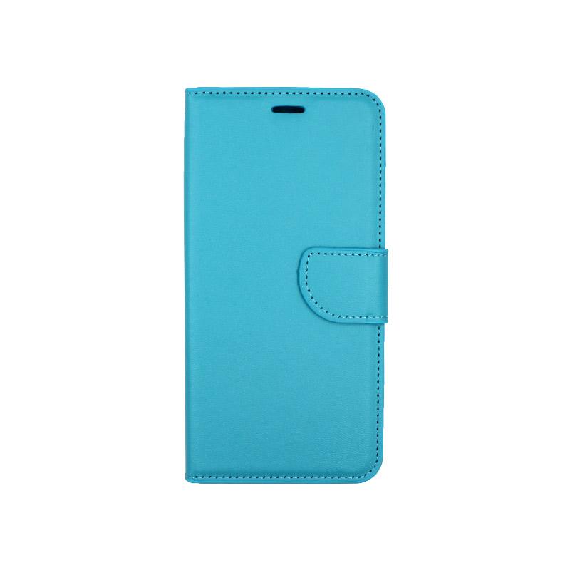 Θήκη Xiaomi Redmi Note 6 Pro πορτοφόλι γαλάζιο 1
