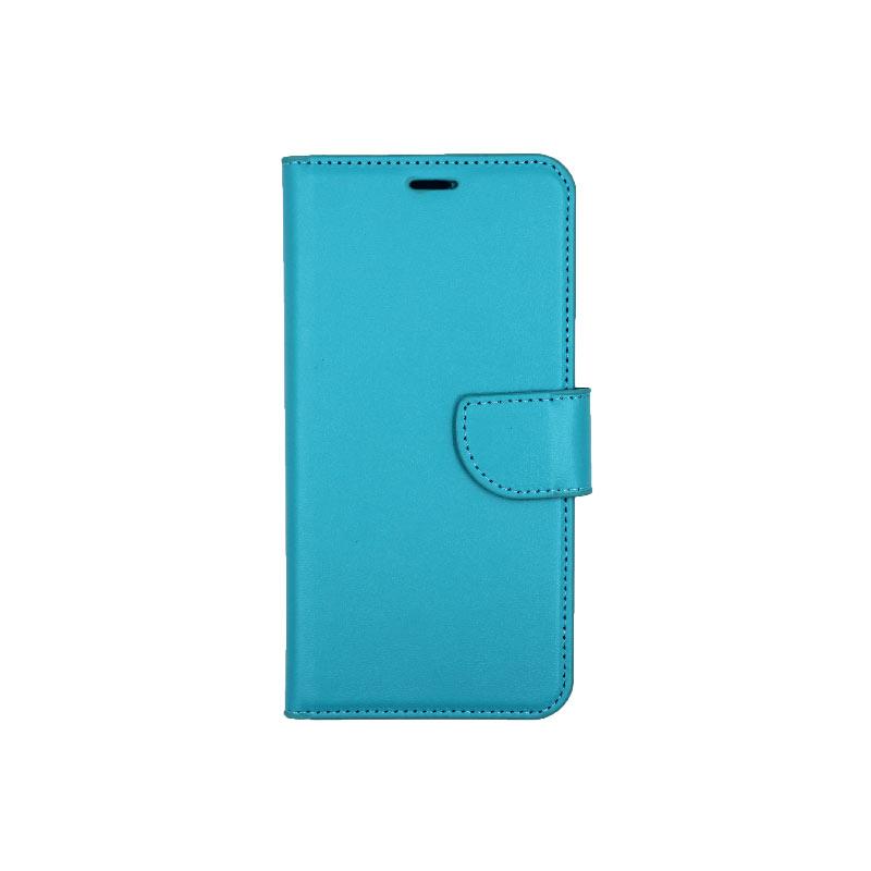 θήκη Xiaomi Pocophone F1 πορτοφόλι με κράτημα γαλάζιο 1