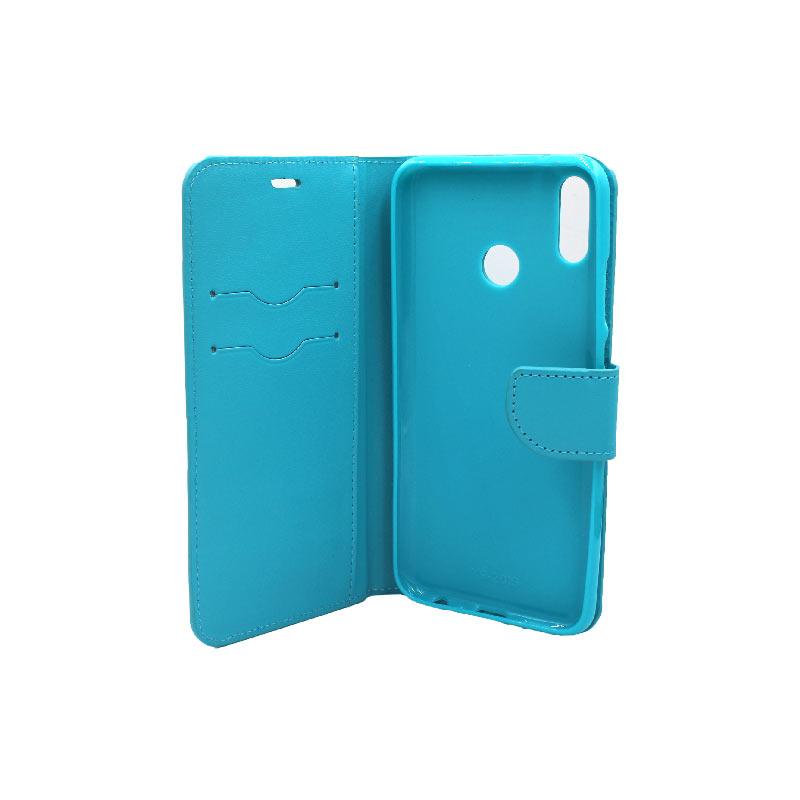 Θήκη Huawei Y9 2019 πορτοφόλι γαλάζιο 3