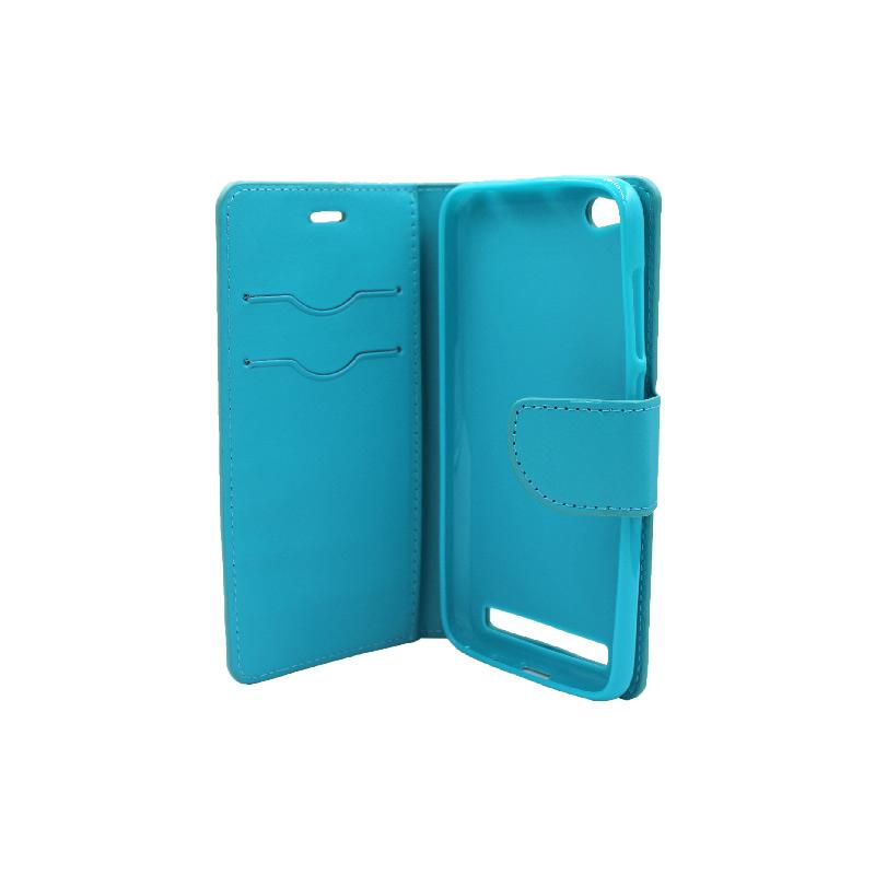 Θήκη Xiaomi Redmi 5A πορτοφόλι γαλάζιο 3