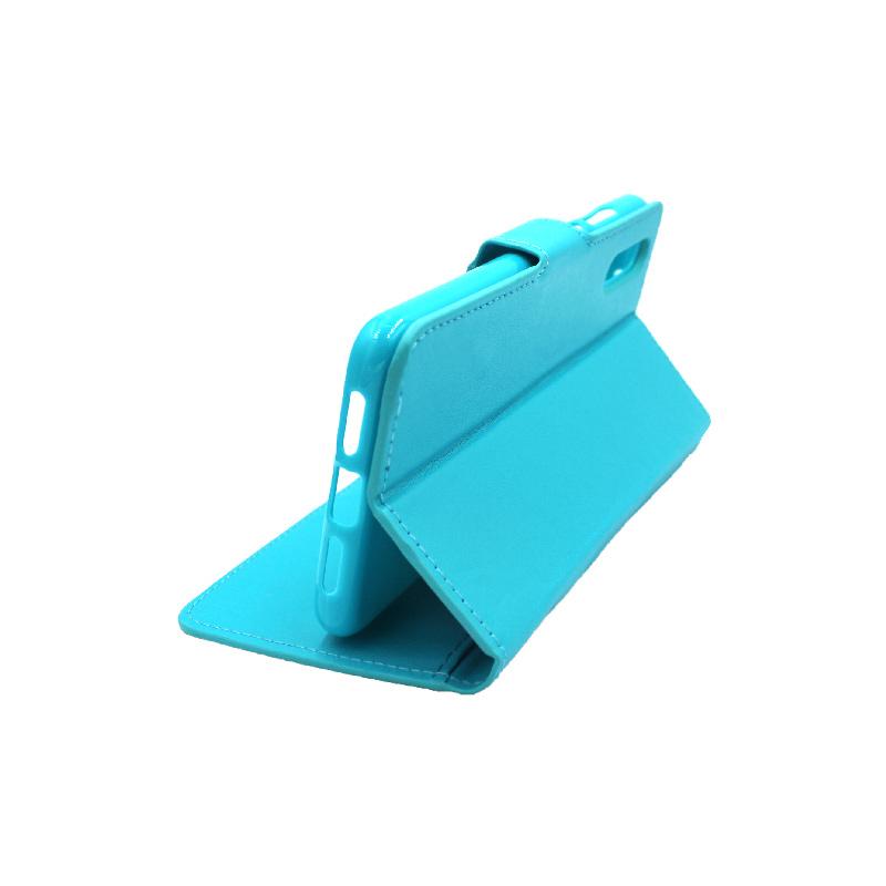 Θήκη Huawei P20 πορτοφόλι γαλάζιο 4