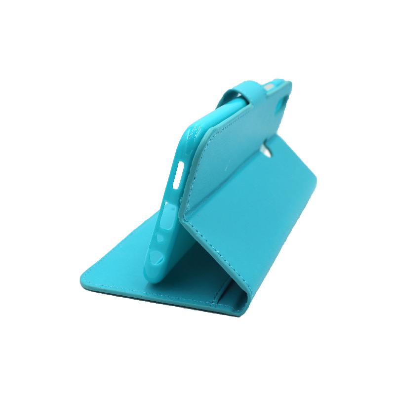 Θήκη Huawei Y9 2019 πορτοφόλι γαλάζιο 4