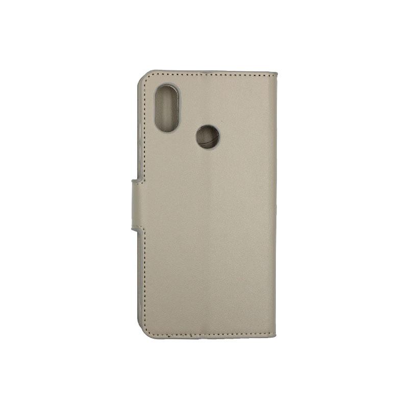 θήκη Xiaomi Mi 8 πορτοφόλι με κράτημα γκρί 2