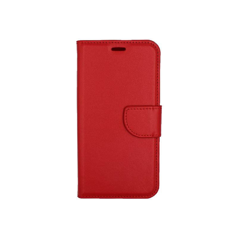 Θήκη Xiaomi Redmi 6 πορτοφόλι κόκκινο 1