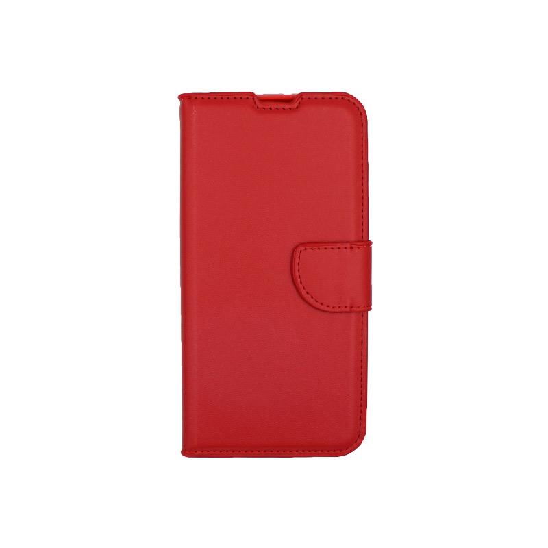Θήκη Huawei Y6 2019 πορτοφόλι κόκκινο 1