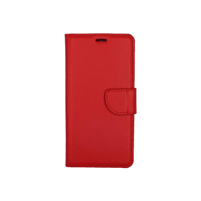 Θήκη Huawei Y6 2018 πορτοφόλι κόκκινο 1