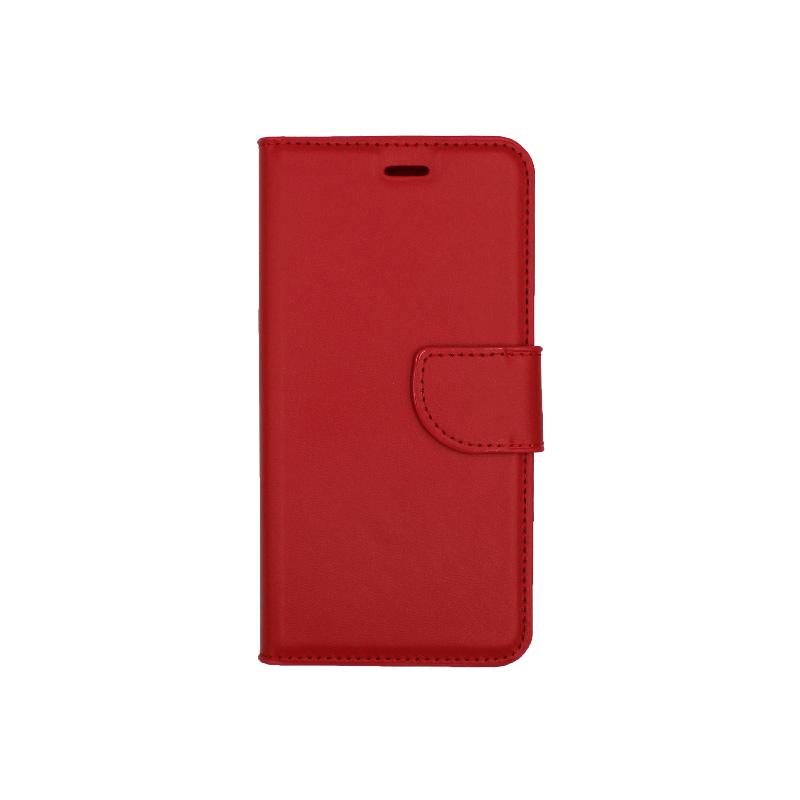 Θήκη Huawei P10 Lite πορτοφόλι κόκκινο 1