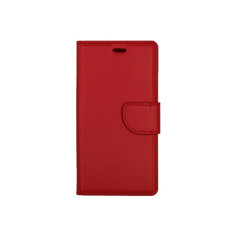 Θήκη Huawei P8 Lite πορτοφόλι κόκκινο 1