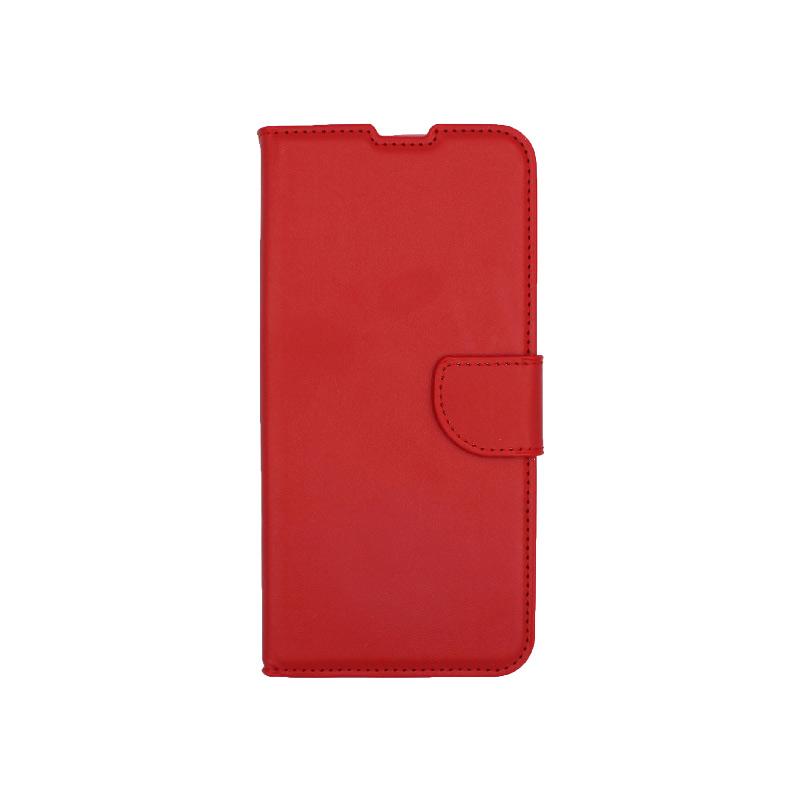 Θήκη Xiaomi Redmi Note 9 πορτοφόλι κόκκινο 1