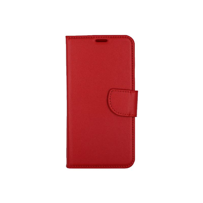 Θήκη Xiaomi Redmi Note 6 Pro πορτοφόλι κόκκινο 1