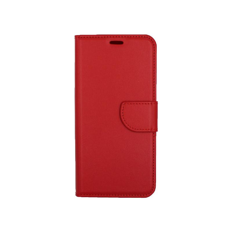 θήκη xiaomi Mi 8 Lite πορτοφόλι με κράτημα κόκκινο 1