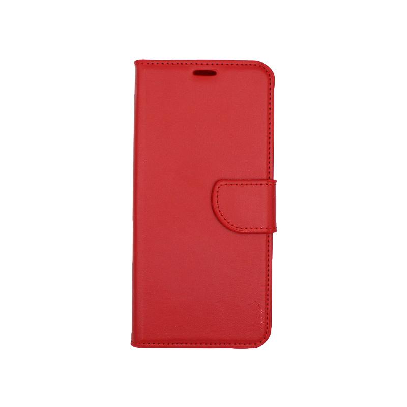 Θήκη Honor 8x πορτοφόλι κόκκινο 1